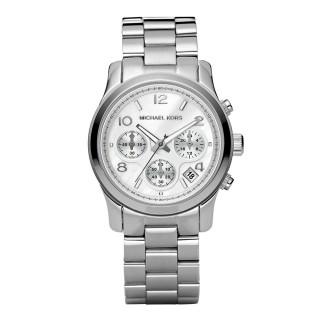 Runway Silver Tone Chronograph Watch