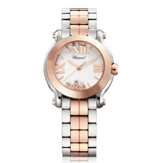 Chopard Watches - Happy Sport Round Mini Steel and Gold